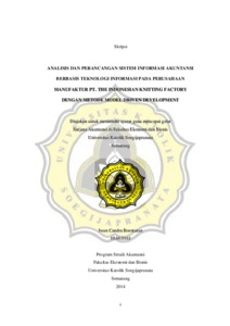 Analisis dan perancangan sistem informasi akuntansi berbasis analisis dan perancangan sistem informasi akuntansi berbasis teknologi informasi pada perusahaan manufaktur pt the indonesian knitting factory dengan ccuart Image collections